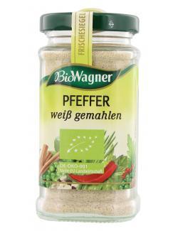BioWagner Pfeffer weiß gemahlen (70 g) - 4001639101713