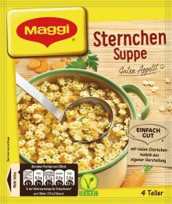Maggi Guten Appetit, Sternchen Suppe, Beutel, ergibt 4 Teller - 7613032290955