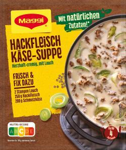 Maggi Fix für Hackfleisch-Käse-Suppe mit Lauch