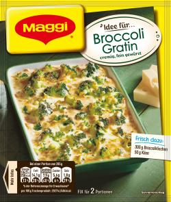 Maggi Idee für Broccoli Gratin