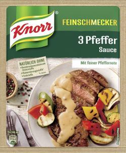 Knorr Feinschmecker 3 Pfeffer Sauce