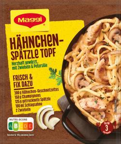 Maggi fix & frisch Spätzle-Hähnchen Topf