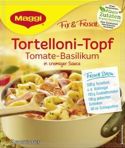Maggi fix & frisch Tortelloni-Topf Tomate-Basilikum (36 g) - 7613033309588
