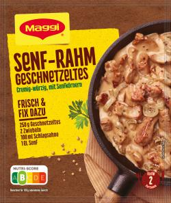 Maggi fix & frisch Senf-Rahm Geschnetzeltes (31 g) - 7613033676727