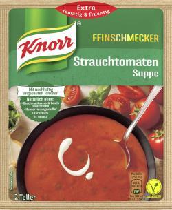 Knorr Feinschmecker Strauchtomaten Suppe