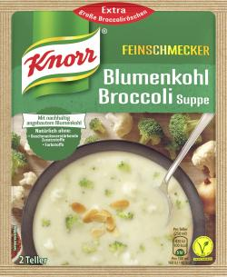 Knorr Feinschmecker Blumenkohl Broccoli Suppe