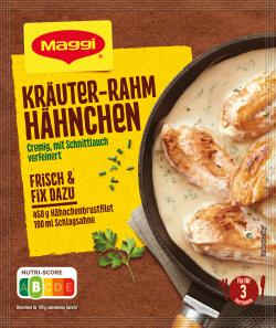 Maggi fix & frisch Kräuter-Rahm Hähnchen