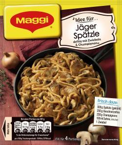 Maggi fix & frisch Jäger-Spätzle, Beutel, ergibt 4 Port. (42 g) - 7613034425959