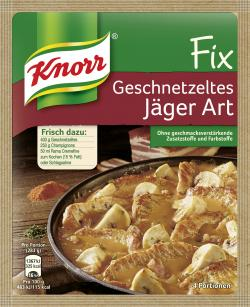 Knorr Fix Geschnetzeltes Jäger Art (45 g) - 8712100440168