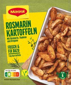 Maggi fix & frisch, Rosmarin Kartoffeln, Beutel, ergibt 4 Port. (28 g) - 7613034666956