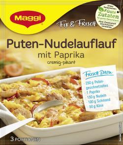 Maggi fix & frisch Puten-Nudelauflauf mit Paprika