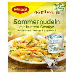 Maggi fix & frisch, Sommernudeln mit buntem Gemüse, Beutel, ergibt 3 Port. (34 g) - 7613035156159