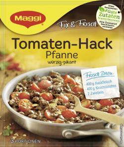 Maggi fix & frisch Tomaten-Hack-Pfanne, Beutel, ergibt 3 Port. (42 g) - 7613035258624