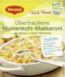 Maggi fix & frisch Überbackene Blumenkohl-Makkaroni, Beutel, ergibt 3 Port. (43 g) - 7613035235526