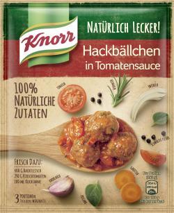 Knorr Natürlich Lecker! Hackbällchen in Tomatensauce (43 g) - 8712100844751