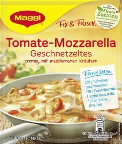 Maggi fix & frisch Tomate-Mozzarella Geschnetzeltes, Beutel, ergibt 2 Port. (35 g) - 7613035473164