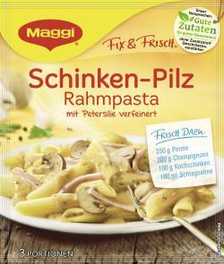 Maggi fix & frisch Schinken-Pilz Rahmpasta, Beutel, ergibt 3 Port. (31 g) - 7613035348806