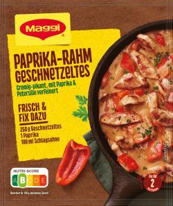 Maggi Fix für Paprika-Rahm Geschnetzeltes