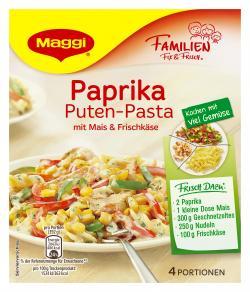 Maggi fix & frisch Paprika Puten-Pasta mit Mais & Frischkäse, 4 Port. (38 g) - 7613035617155