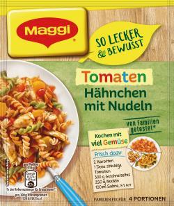 Maggi So lecker & bewusst Tomaten Hähnchen mit Nudeln