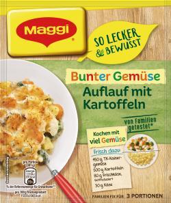 Maggi fix & frisch Tomaten Hähnchen mit bunten Nudeln, 4 Port. (44 g) - 7613035616530