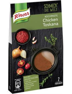 Knorr Schmeck' die Welt Kochpaste Chicken Toscana MHD 28.08.18