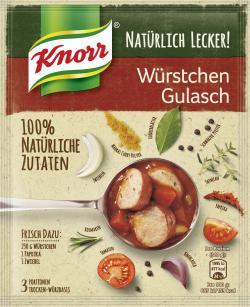 Knorr Natürlich Lecker! Würstchen Gulasch (53 g) - 8714100399422