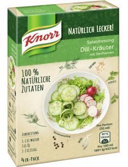 Knorr Natürlich Lecker! Salatdressing Dill-Kräuter (4 x 90 ml) - 8714100097410