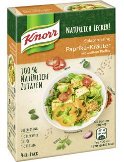 Knorr Natürlich Lecker! Salatdressing Paprika-Kräuter (4 x 90 ml) - 8714100097922