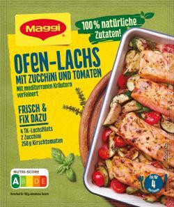 Maggi Natürlich & Bewusst Lachs mit Zucchini & Tomaten mariniert vom Blech