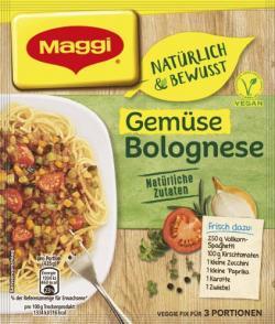 Maggi Natürlich & Bewusst Gemüse Bolognese (MHD 28.06.2018) (42 g) - 7613036077408