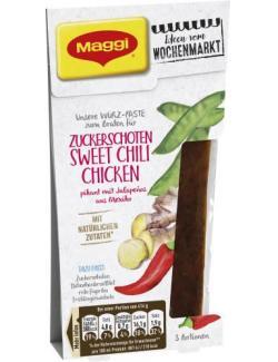 Maggi Ideen vom Wochenmarkt Würz-Paste für Zuckerschoten Sweet Chili Chicken (100 g) - 7613036030489