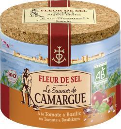 Le Saunier de Camargue Fleur de Sel mit Tomate & Basilikum