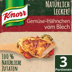 Knorr Natürlich lecker! Gemüse-Hähnchen vom Blech