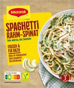 Maggi Fix für Spaghetti Rahm-Spinat