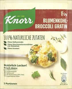 Knorr Natürlich Lecker! Blumenkohl-Broccoli Gratin
