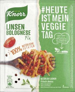 Knorr Linsen Bolognese Natürlich lecker!