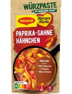 Maggi Herzensküche Würzpaste Paprika Sahne Hähnchen