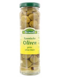 Feinkost Dittmann Spanische Oliven grün ohne Stein (60 g) - 4002239483001