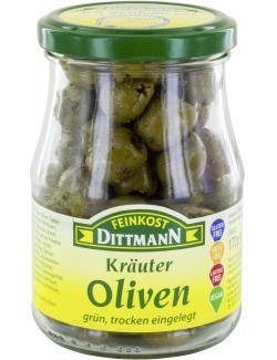 Feinkost Dittmann Kräuter-Oliven trocken eingelegt