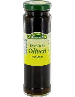 Feinkost Dittmann Spanische Oliven mit Stein (85 g) - 4002239472005