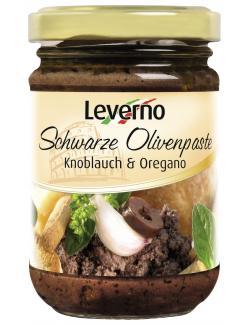 Leverno Schwarze Olivenpaste Knoblauch Oregano