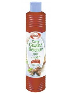 Hela Curry Gewürz Ketchup delikat light (800 ml) - 4027400468106