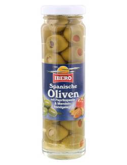 Ibero Spanische grüne Oliven mit Paprikapaste & Mandeln (90 g) - 4013200555283