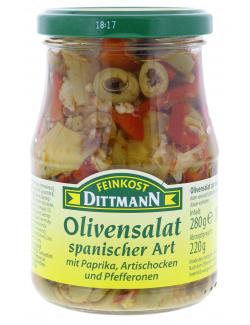 Feinkost Dittmann Olivensalat spanischer Art (220 g) - 4002239419000