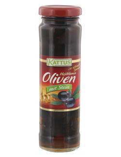 Kattus Hojiblanca geschwärzte Oliven mit Stein (85 g) - 4058700705899