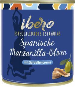 Ibero Spanische Manzanilla Oliven gefüllt mit Sardellencreme