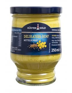 Küstengold Delikatess Senf mittelscharf