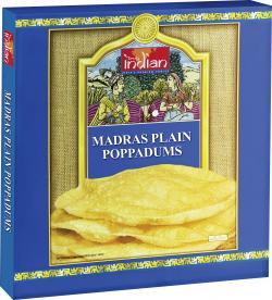 Truly indian Madras Plain Poppadums (112 g) - 8901552015530