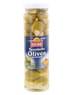 Ibero Spanische grüne Oliven mit Mandeln (75 g) - 4013200555412